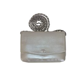 Chanel-Clutch bags-Silvery