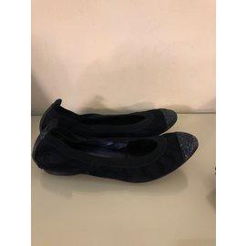 Chanel-Chanel ballerines-Bleu Marine