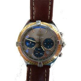 Breitling-Montre Chrono Sextant de Breitling-Marron foncé