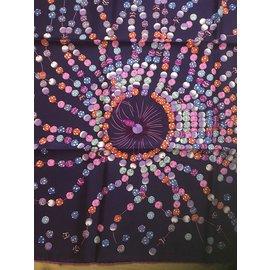 Hermès-Carré Hermès 90 cm Dancing Pearls-Rose,Violet