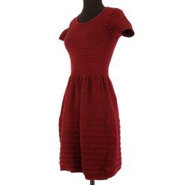 Suncoo-Dress-Dark red