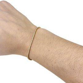 inconnue-Bracelet ligne en or rose, diamants.-Autre