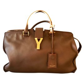 Yves Saint Laurent-Sacs à main-Cognac