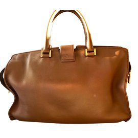 Yves Saint Laurent-Handtaschen-Cognac