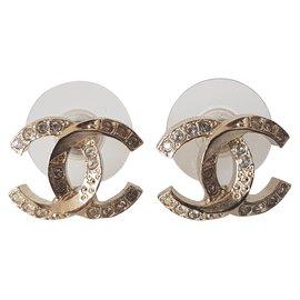 Chanel-Boucles d'oreilles Chanel neuves-Doré