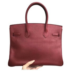 Hermès-HERMES BIRKIN 30 Rouge H Epsom avec GHW-Rouge