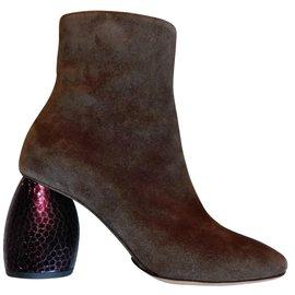 Dries Van Noten-Ankle Boots-Khaki