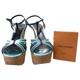 Louis Vuitton-Sandales avec zepp-Bleu clair