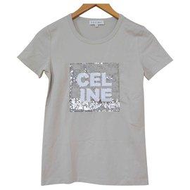 Céline-Céline Grey T-Shirt Size S SMALL-Grey