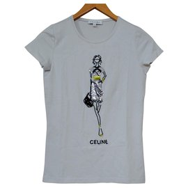 Céline-Céline Grey T-Shirt Tee Size S SMALL-Grey