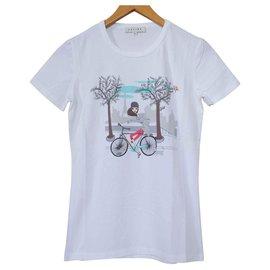 Céline-Céline Blanc T-Shirt Tee Taille P Petit-Blanc