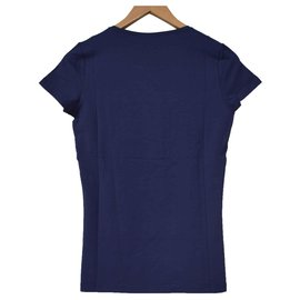 Céline-Céline Blue T-Shirt Tee Size M MEDIUM-Blue