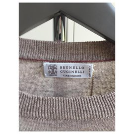 Brunello Cucinelli-BRUNELLO CUCINELLI NEW MEN'S LINEN SWEATER-Brown
