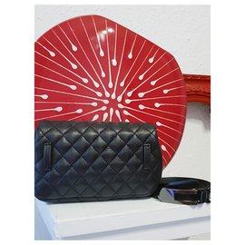 Chanel-Belt pouch CHANEL UNIFORME-Black,Metallic