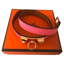 Hermès-Bracelet Rivale Hermès Rose Azalée-Rose
