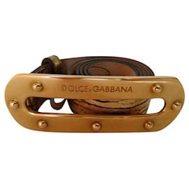 Dolce & Gabbana-Ceinture en cuir DOLCE et GABBANA.-Doré