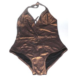 Melissa Odabash-Melissa Odabash modèle Naples bronze neuf étiquette-Bronze