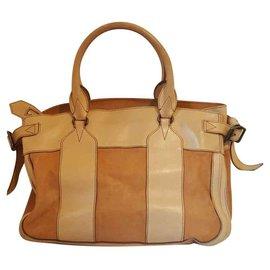 Burberry-Handbags-Beige,Light brown