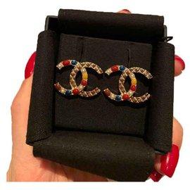 Chanel-Boucles d'oreilles-Argenté