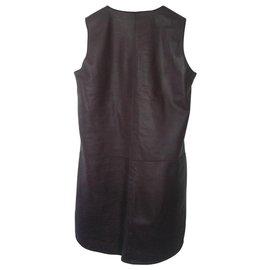 Rebecca Taylor-Rebecca Taylor leather dress-Prune