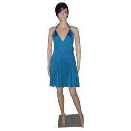 Azzaro-Dresses-Turquoise