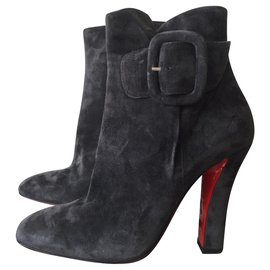 Christian Louboutin-Ankle Boots-Dark grey