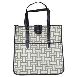 Hermès-Tote bag-Blue,Beige