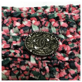 Chanel-Chanel knitted cotton mini skirt-Pink
