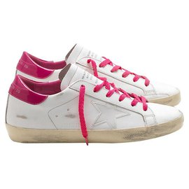 Golden Goose Deluxe Brand-GOLDEN GOOSE SUPER STAR ROSE / BLANC 9US-Rose,Blanc