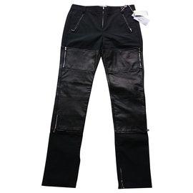 3.1 Phillip Lim-3.1 Phillip Lim Leather trousers, Size US 2 (XS)-Black