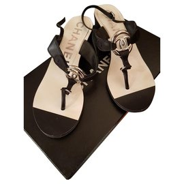 Chanel-Sandales Chanel-Noir