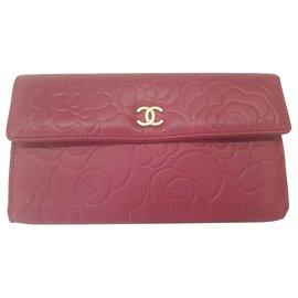 Chanel-Portefeuille Chanel camélia compagnon-Rose