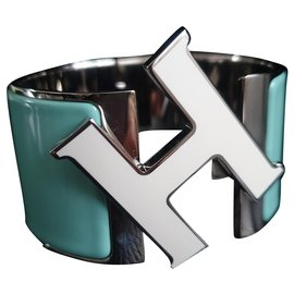 Hermès-Bracelet clic ''H'' XL-Bleu clair