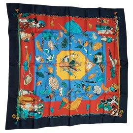 Hermès-Ombrelle et Parapluies-Noir,Rouge,Bleu