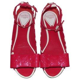 Louis Vuitton-Ballerines-Rouge