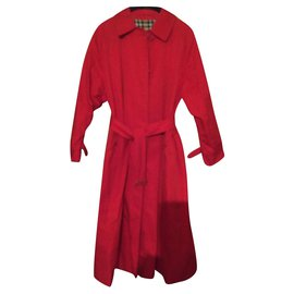 Burberry-Trench imperméable-Rouge