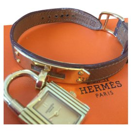 Hermès-Kelly-Marron,Doré