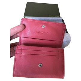 Longchamp-Bourses, portefeuilles, cas-Rose