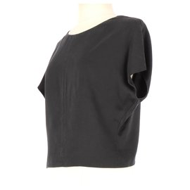 Balenciaga-Wrap blouse-Black