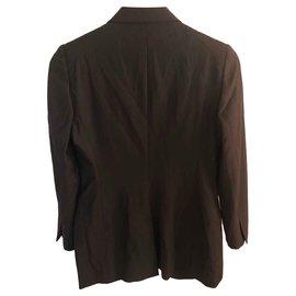 Gucci-Blazer en laine-Marron