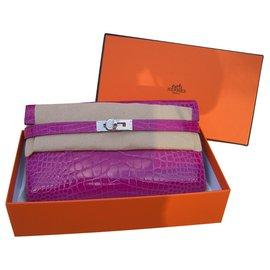 Hermès-kelly alligator-Pink