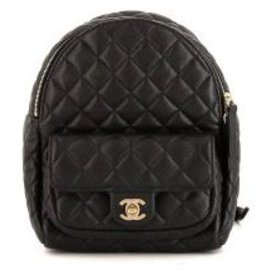 Chanel-Chanel Leather Backpack-Black