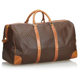 Céline-Macadam Duffle Bag-Brown,Light brown,Dark brown