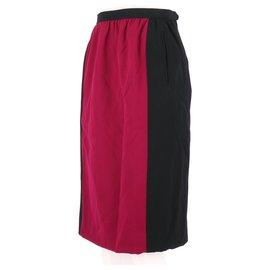 Yves Saint Laurent-Skirt-Fuschia