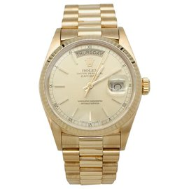 "Rolex-Rolex ""Day-Date"" watch in yellow gold on yellow gold President's bracelet.-Other"