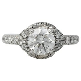 """Chaumet-Bague Chaumet, """"Liens d'Amour"""", platine, diamant 0,72 carat.-Autre"""