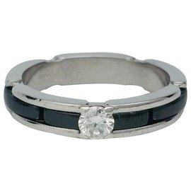 """Chanel-Bague Chanel modèle """"Ultra"""" en or blanc, céramique noire, diamant.-Autre"""