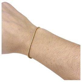 inconnue-Bracelet ligne en or jaune, diamants.-Autre