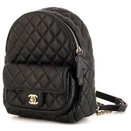 Chanel-Sac à dos en cuir Chanel-Noir