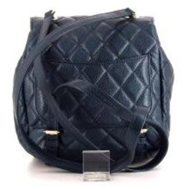 Chanel-Chanel Leather Backpack-Blue